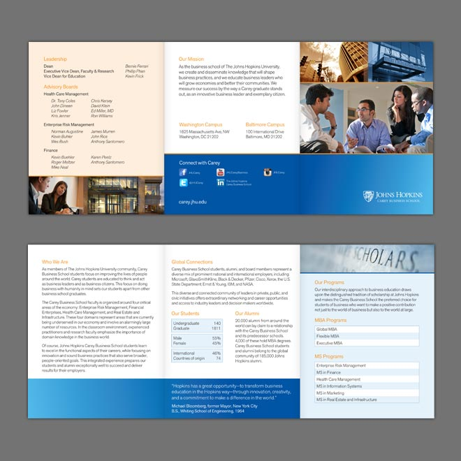 JHU Carey Business School Brochure